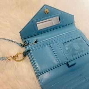 Tory Burch Robinson Light Blue Envelope Wristlet